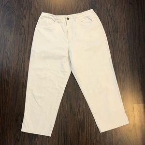 Talbots petites cropped ankle denim jeans size 10
